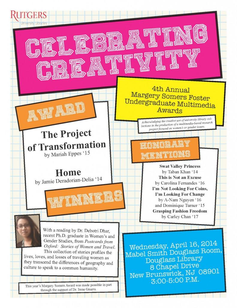 Celebrating Creativity Flyer